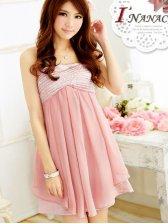New Style Lady Fashion Love Chiffon Dress