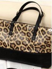 Korea Fashion Leopard One Shoulder Casual Handbag