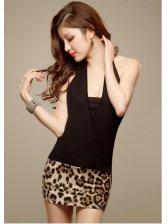 New Fashion Sexy Backless Elegant Slim Halter Dress