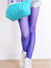 Vogue Elastic Ultrathin Gauze Leggings Royal Blue