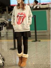 Fashion Women Black Fake Two Pieces Casual Pantskirt