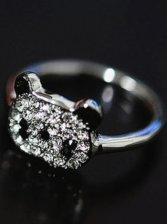 Stylish New Women Little Bear Silver Finger Ring