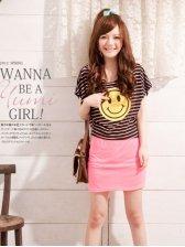 Summer New Fashion Striped Cotton Two-piece Mini Dress