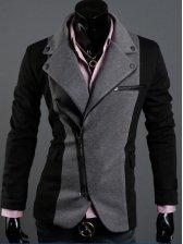 2012 New Fashion Stylish Irregular Zipper Slim Business Suit