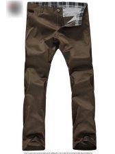 Spring New British Style Men's Slanted Slash Pocket Long Pants