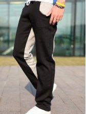 Korea New Fashion Color Block Sports Wear Long Pants