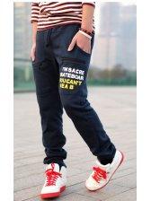 2012 Wholesale New Brand Character Printing Double Zip Men's Long Slim Pants