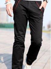 New Fashion Men Casual Long Pants Black