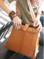 Retro Style Classic Women Casual Satchel Bag Brown