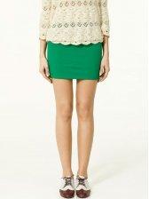 Korea New Candy Color Stretchy Cotton A-line Short Skirt