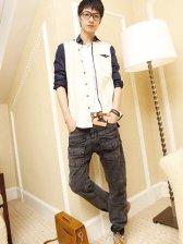 2012 New Men's Slim Fit Pockets Design Denim Jeans