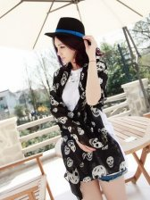 New Arrival Fashionable Lady Skeleton Scarf Black