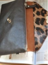 New Vogue Women Clamshell Style Opening Clutch Bag