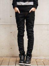 Hot Sale Men Slim Fit Pure Color Skinny Denim Pants