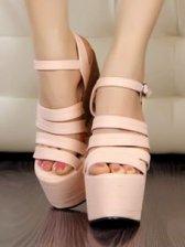 Wholesale Europe Stylish High Heel Plate Form Sandals