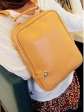 Stunning New Vintage Pure Color Casual Backpack