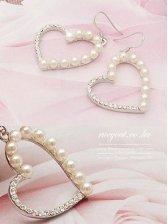 2012 New Arrival Love Shape Bead Earrings