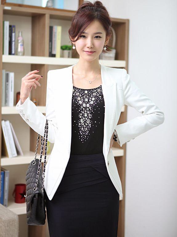Noble Women V-neck Slim Fit Casual Suit Coat