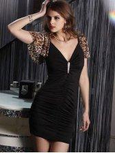 European Style Sexy Leopard Slim Fit Mini Dress