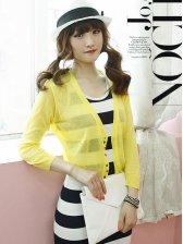 Women Fashion Single-breasted Long Sleeve Short Coat