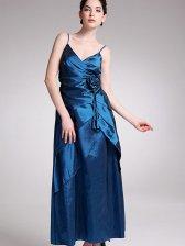 Wholesale Elegant Women Flower Design Pleated Satin Gown