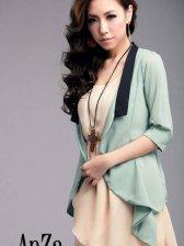 Wholesale Turn Back Collar Pure Color Short Coats