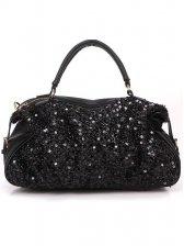 2012 New Elegance Sequin Design Women's Black Handbag