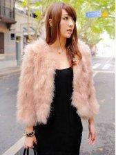 New Arrival Pure Color Long Sleeve Plush Coats
