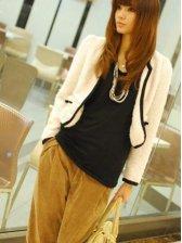 New Fashion Style Wool Double Pockets Short Coat