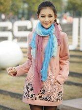 Winter Women's Original Floral Pattern Long Sleeve Hoodie