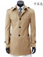 Hot Sale Pure Color Single-breasted Slim Casual Coat