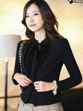 Women Fashion Pure Color Slim One Button Suit