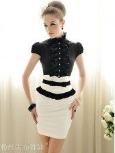 Summer Lady's Fashion Empire Waist Stretchy Mid-length Skirt