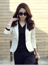 Korean New Fashion Pure Color One Button Slim Casual Suit
