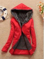 Hot Sale With Cap Pure Color Long Sleeve Korea Hoodies