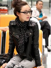 Stunning New Lady Casual Slimming Leather Coat