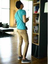 New Men Vogue Slim Fit Casual Long Pants