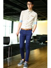 Men Fashion Pockets Designed Long Pants