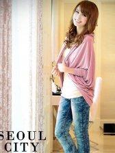 Autumn Women's Fashion Batwing Sleeve Shawl Style Cardigan