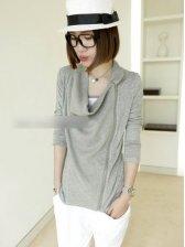 Women's Simple Oblique Zipper Anti-sun Small Coat