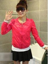 New Women Fashion Zip up Anti-sun Small Coat