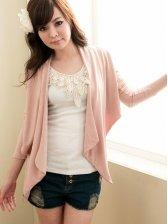 Wholesale New Elegant Pure Color Slim Fit Long Sleeve Short Coat