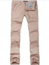 Men's Candy Color Cotton Straight Casual Long Pants