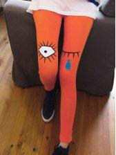 Wholesale Lady Slim Fit Cartoon Print Legging 3 Color