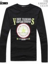 Hot Sale Men Star Print Long Sleeve T-shirt