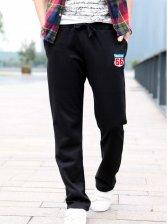New Men Fashion Embroidery Art Sports Long Pants