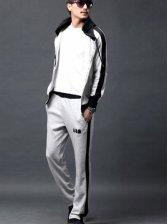 Wholesale Color Block Letter Printing Men Sports Wear
