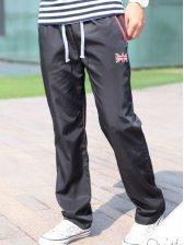 New Men Modern Style Zipper Pockets Casual Long Pants