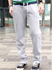 Men's Fashion Drawstring Cutout Casual Long Pants