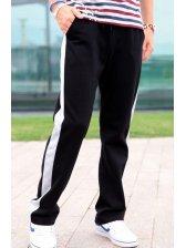 Wholesale Fashion Side Color Block Letter Print Casual Pants